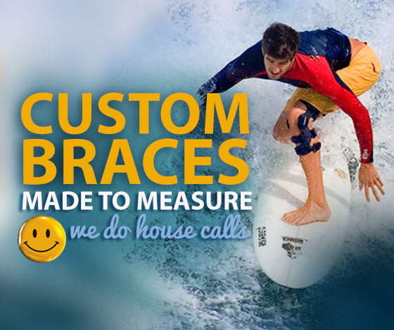 Custom braces - made to measure - we do house calls